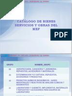 Catalogo de Bs y Servicios Siga Mef