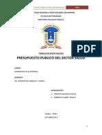 Presupuesto Publico Sector Salud