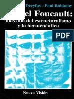 Dreyfus Hubert l Michel Foucault Mas Alla Del Estructuralismo y La Hermeneutica