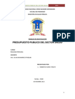 Presupuesto Publico Sector Salud 2013