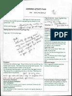 teacher notes on activity-circle time plans