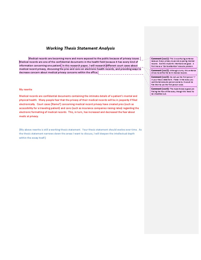 working thesis statement examples