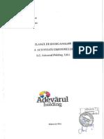 Plan de reorganizare Adevarul Holding