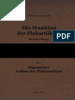 """L.Dv.4402/1"" Die Munition der Flakartillerie. Beschreibung. Teil 1"