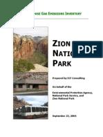 Zion GHG Inventory