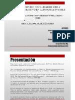 Unicef Primer Estudio de Calidad de Vida y Bienestar Subjetivo en La Infancia en Chile. Jaime Alfaro.