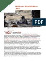Truth, Accountability and Reconciliation in Post-War Sri Lanka