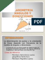 PLANIMETRIA - Angulos y Direcciones