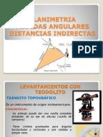 PLANIMETRIA - Medidas Angulares-distancias Indirectas