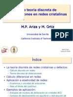 Teoria Discreta de Las Dislocaciones en Redes Cristalinas