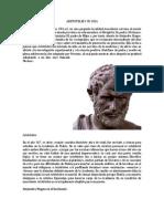 Aristoteles y Su Vida