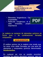 Bioelementos y Moleculas Inorganicas.