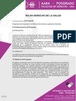 Programa Diplomatura en Derecho de La Salud