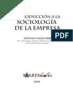 BAIGORRI, Artemio - Sociologia de La Empresa