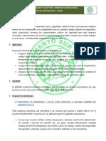 Requisitos de Seguridad Para Contratistas - Proyecto Katawi Rumi - 2012
