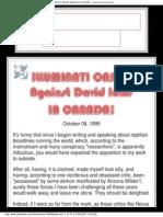 52-Illuminati Onslaught Against David Icke in Canada