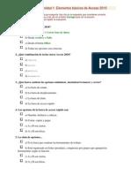 Pruebas Evaluativas Access 2010