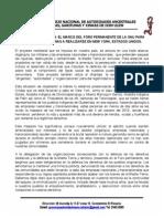 POSTURA POLITICA EN  EL MARCO DEL FORO PERMANENTE DE LA ONU PARA CUESTIONES INDIGENAS A REALIZARSE EN NEW YORK, ESTADOS UNIDOS.pdf
