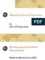 Municipal Service Financing