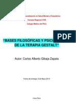 BASES FILOSÓFICAS Y PSICOLÓGICAS DE LA TERAPIA GESTALT