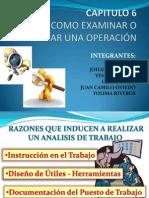 Exposicion CAPITULO 6 Como Examinar o Analizar Una Operacion