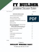 SWP Political Education Classes - 1974