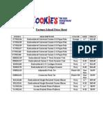 FS Uniform Price Sheet
