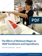 Effects of Minimum Wages on Snap