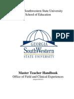 Master Teacher Handbook