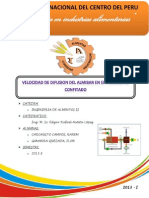 Informe de Deshidratacion Osmotica de La Papaya