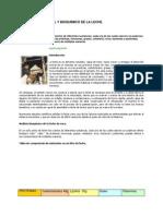 Estudio Nutricional y Bioquímico de La Leche