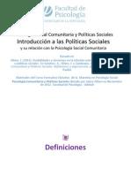 Politicas Sociales y Ps Comunitaria