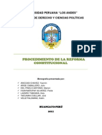 Monografia de Reforma Constitucional
