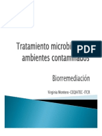 Tratamiento Microbiano de Ambientes Contaminados BIORREMEDIACION [Modo de Compatibilidad]