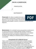 Sinopsis de La Conservación (MTO)