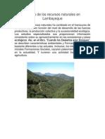 Manejo de Los Recursos Naturales en Lambayeque