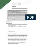 financial reporting 2012