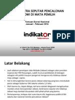 Survey Nasional Januari - Pebruari 2014 | Indikator
