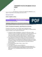 Proceso de Admisión Nuevo Ingreso Ciclo Escolar 2011