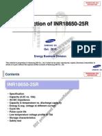 131101_Introduction of INR18650-25R Samsung SDI