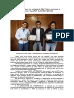 Empresa Francana é a Primeira Do Estado a Conseguir a Certificação MASTER BUSINESS BRASIL
