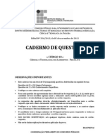 C018 - Ciencia e Tecnologia de Alimentos (Perfil 01) - Caderno Completo