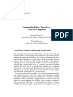 Language Proficiency Interviews
