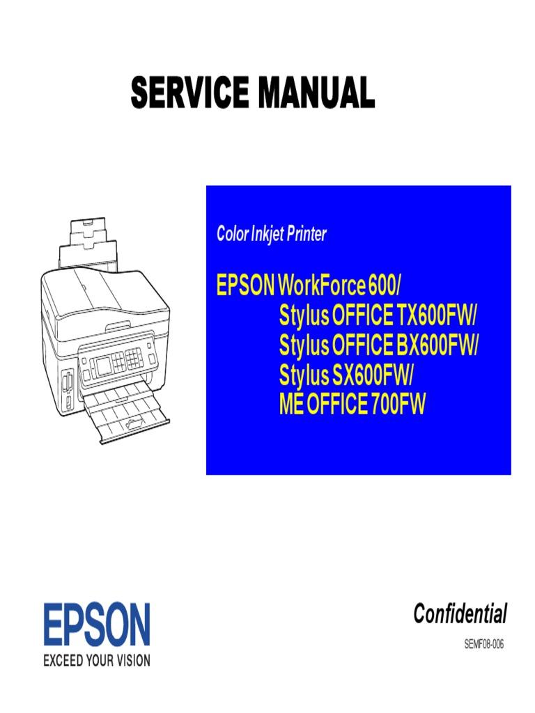 Service Manual Epson Tx600fw Stylus Office Secure Digital Usb Install Wireless Printer Diagram