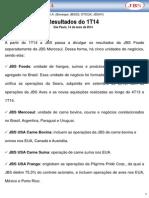 Press-release referente ao 1T14