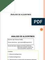 AA 2013 D1 Presentación Algoritmos