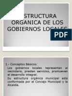 Estructura Organica de Los Gob Locales