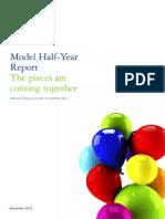 Deloitte Model Half Year Report 31Dec2013