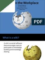 williamsj wikis in workplace