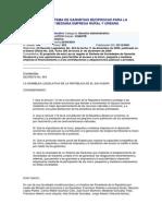 El Salvador Ley Del Sistema de Garantías Recíprocas - DL 553 2001